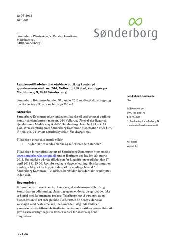 Landzonetilladelse og dispensation fra skovbyggelinje - Sønderborg ...
