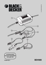 BDV080 - Service - Black & Decker