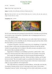 20. søndag efter trinitatis 5. oktober 2008 1 Hvert år ... - Burkal Kirke