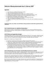 Referat af Bestyrelsesmøde den 8. februar 2007 - stagebjergparken ...