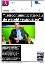 Telecommunicatie kan de wereld veranderen - iMinds
