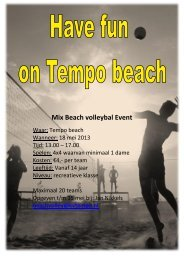 Klik hier voor de flyer met alle info - Tempo