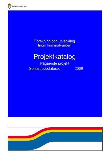 Projektkatalog - Kriminalvården