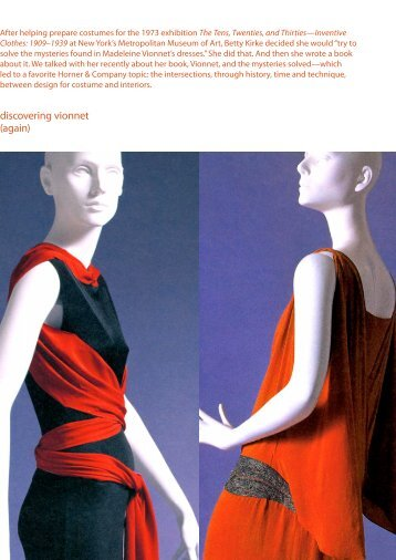 discovering vionnet (again) - Horner & Company