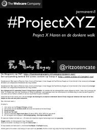 Lunchsessie - Project XYZ - Social Media in 1 Day
