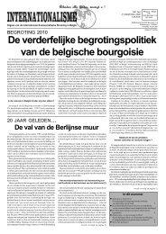 De verderfelijke begrotingspolitiek van de belgische bourgoisie