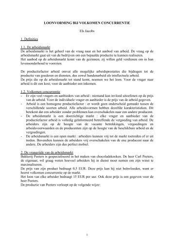 """""""Loonvorming bij volkomen concurrentie"""" in PDF-formaat"""