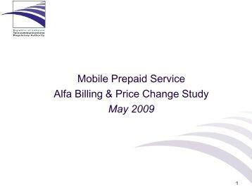 Alfa's mobile prepaid tariffs explained
