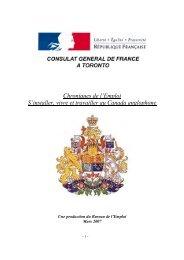 S'installer, vivre et travailler au Canada anglophone - Consulat ...
