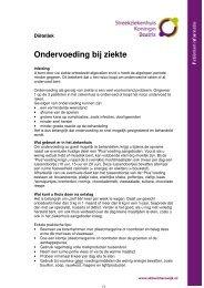 Ondervoeding bij ziekte - Streekziekenhuis Koningin Beatrix