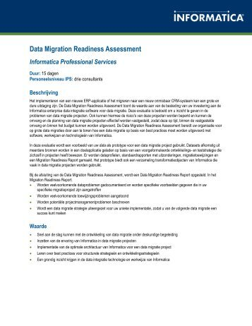 Data Migration Readiness Assessment - Informatica