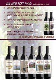 vi laver også din JAGT & JULEVIN - Vin med egen etiket