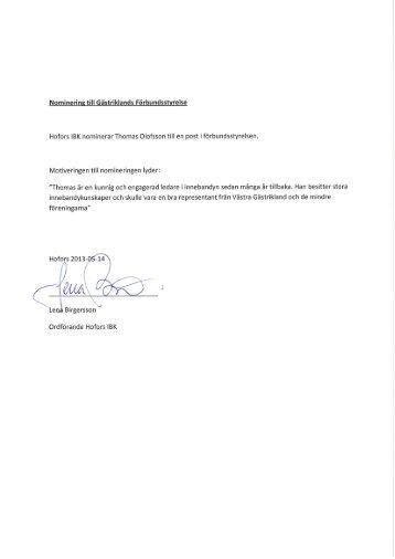 Inkomna nomineringar till distriktsstyrelsen