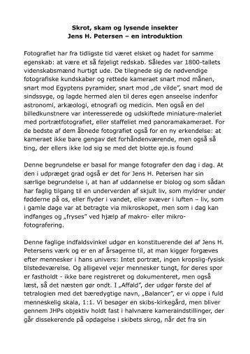 Skrot, skam og lysende insekter Jens H. Petersen – en introduktion ...