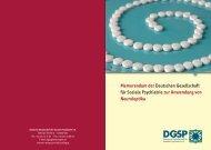 lesen Sie mehr - Deutsche Gesellschaft für Soziale Psychiatrie