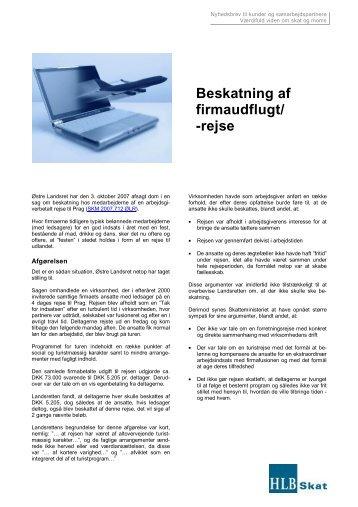 Beskatning af firmaudflugt - Beierholm