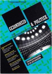 Tijdschrift Gezondheid en Politiek jaargang 1987 nr 4
