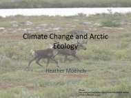 Climate Change and Arctic Ecology