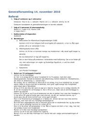 Generalforsamling 14. november 2010 Referat - Morbærhaven