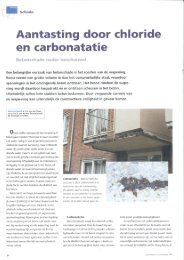 Aantasting door chloride en carbonatatie - Technoconsult