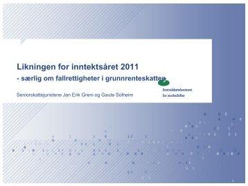 Likningen 2011 - Lovendring om fallrettigheter - Energi Norge