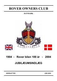ROVER BILEN 100 ÅR - Rover klub Danmark