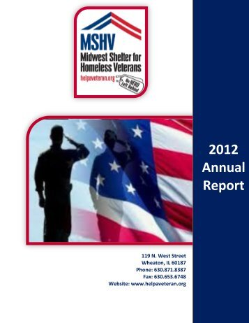 2012 Annual Report - Midwest Shelter for Homeless Veterans