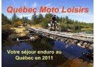 Votre séjour enduro au Québec en 2011 - quebec moto loisirs
