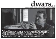 STADSLIJST .be - Dwars - Universiteit Antwerpen