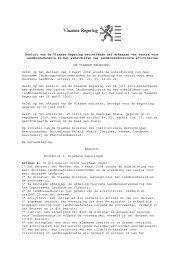 besluit van de Vlaamse Regering van 10/10/2008 betreffende het ...