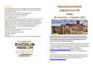 Sekularkarmelitisk pilgrimsresa till Avila 28 september - ExodusResor