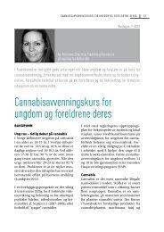 Erfaringer fra cannabisprosjekt - Borgestadklinikken