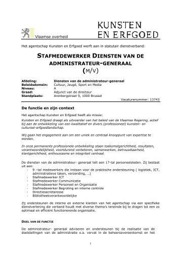 functieomschrijving - pdf - Jobpunt Vlaanderen