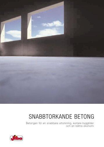 SNABBTORKANDE BETONG - Jiba Betong