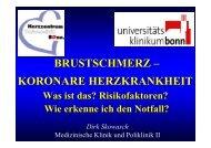 brustschmerz - Medizinische Klinik und Poliklinik II