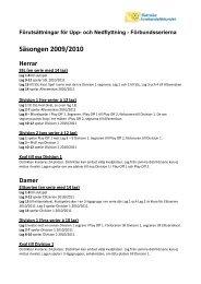 Upp & nedflyttning förbundserierna 09/10-10/11