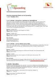 Utrechts programma Week van de Opvoeding 1 t ... - Cumulus Welzijn