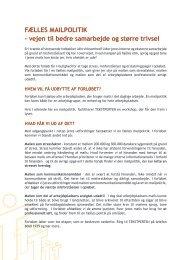 FÆLLES MAILPOLITIK – vejen til bedre samarbejde og ... - tekstperten