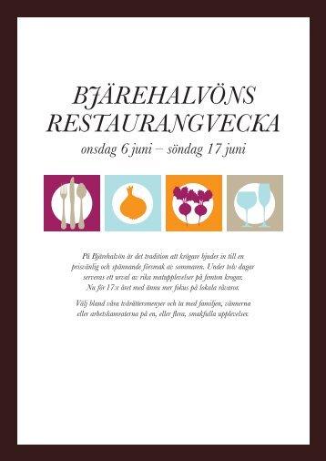 Bjärehalvöns restaurangvecka - Båstad Bjäre Gourmet