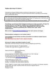Vigtige oplysninger til rytterne - Hedensted og Omegns Rideklub