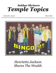 Temple Topics - Sabbar Shrine Temple