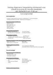 Verslag algemene vergadering van 25/04/2013 - Gemeente ...