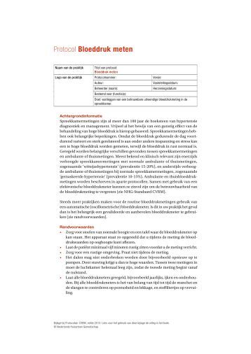 protocol bloeddruk meten