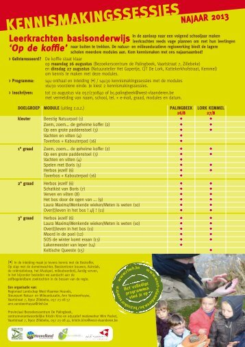 programma (pdf - 189 KB) - Klasse
