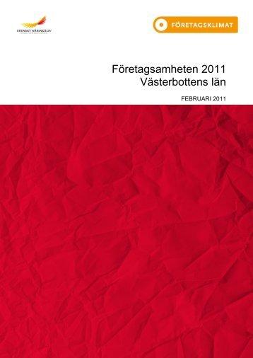 Företagsamheten Västerbottens län februari 2011 - Bjurholm kommun