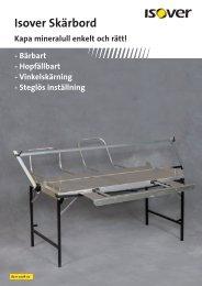 Broschyr Isover Skärbord