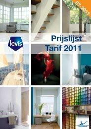 Prijslijst Tarif 2011 - BigMat