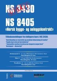 UTGÅTT - Norges Bygg- og Eiendomsforening