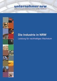 Die Industrie in NRW - Unternehmer NRW