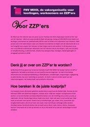 Voor ZZP'ers - FNV Mooi Geregeld